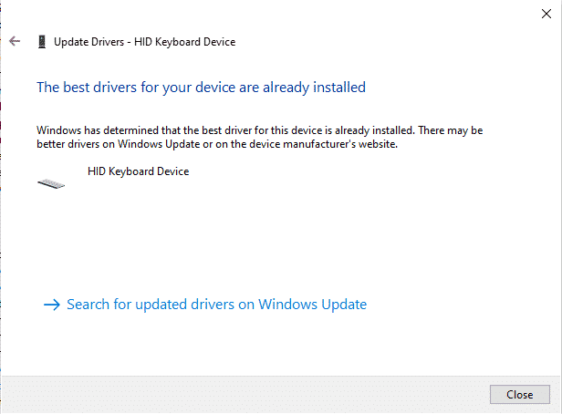 the best driver for your device are already installed