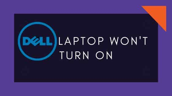 Dell laptop won't turn on even when plugged in