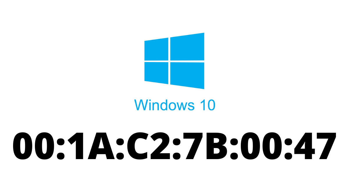 how to find mac address on windows 10