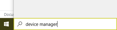 search for device manager in windows search