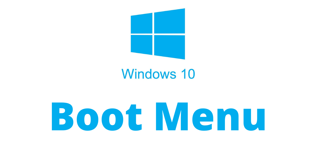 windows 10 boot menu