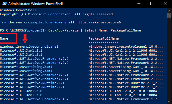 copy program name in windows powershell