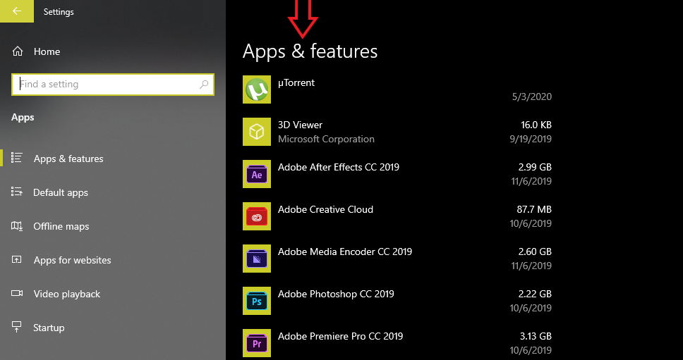 installed-apps-on-windows-10