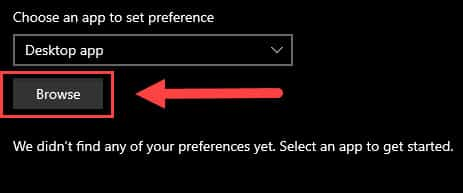 browse app preference