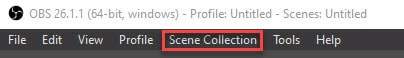 obs scene collection